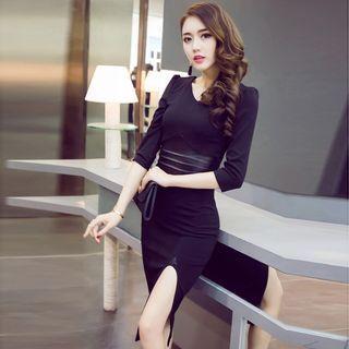 Slit Sheath Dress 1051545343