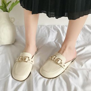 Image of Buckled Loafer Mules