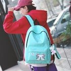 Set: Printed Canvas Backpack + Pencil Case 1596