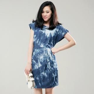 Buy iSUPERMODEL Washed Short-Sleeve Dress 1022718357