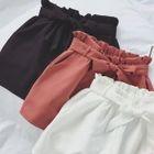 Plain Bow-Tie Lace-Up Wide-Leg Pants 1596