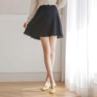 Lace-Trim A-Line Mini Skirt 1596