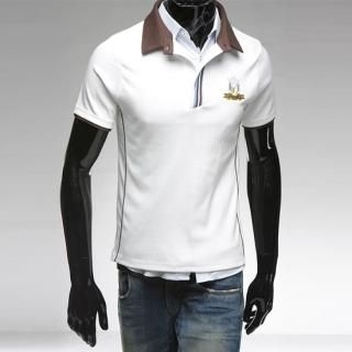 Buy Style YOURS Embroidered Short-Sleeve Polo T-Shirt 1022493020