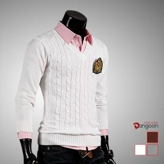 Picture of DANGOON Cable-Knit Sweater (Crest Badge Not Included) 1021145187 (DANGOON, Mens Knits, Korea)