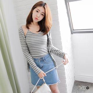 Set: Striped Cardigan + Striped Camisole 1052977734