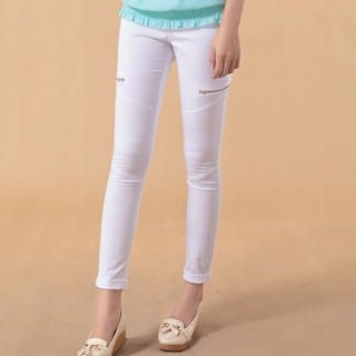 Zip-Detail Skinny Pants