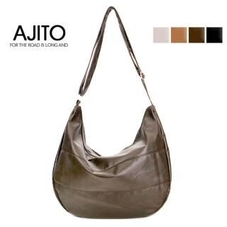 Picture of AJITO Faux-Leather Hobo 1022399675 (AJITO, Hobo Bags, Korea Bags, Womens Bags, Womens Hobo Bags)