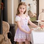 Kids Embroidered Short-Sleeve Dress 1596