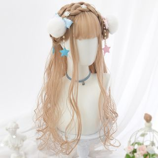 Image of Long Full Wig - Wavy Yellow - One Size