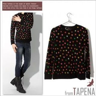 Buy TAPENA Polka Dot Knit Sweater 1021924278