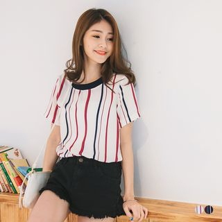 Ribbed Stripe Top 1053611027