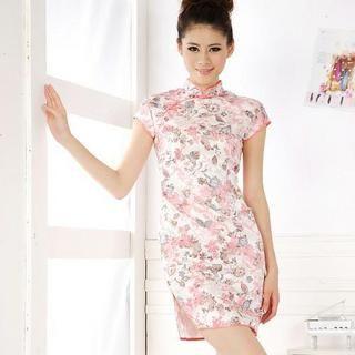 Buy Xunia Slit-Side Floral Print Cheongsam 1022955252
