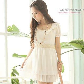 "Buy Tokyo Fashion Short-Sleeve ""Bow"" Chiffon Dress 1023028319"