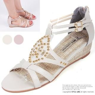 Picture of STYLE LINE Studded Wedge Sandals 1023003018 (Sandals, STYLE LINE Shoes, Korea Shoes, Womens Shoes, Womens Sandals)
