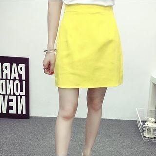 Plain A-Line Skirt 1050548281