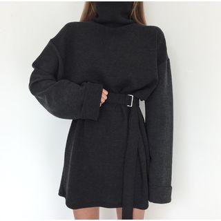 Long-Sleeve Tie-Waist Mini Dress 1064577712