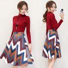 Set: Sweater + Printed Skirt 1596