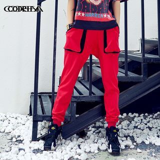 Contrast Color Sweatpants 1058182062