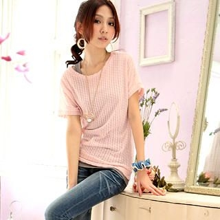 Buy Tokyo Fashion Short-Sleeve Knit Top 1022717076
