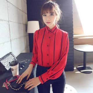 stripe-chiffon-blouse