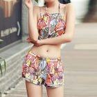 Set: Patterned Bikini + Top + Skirt 1596