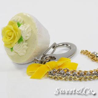 Sweet Glitter Yellow Cupcake XL Bag Charm