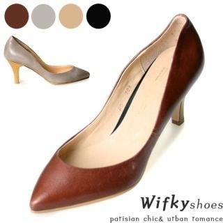 Buy Wifky Genuine Leather Pointy Pumps 1021121394