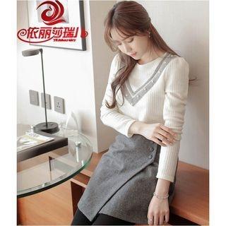 V-Neck Knit Pullover 1056980204