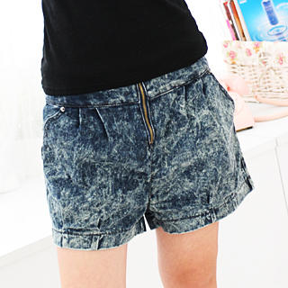 Picture of 59 Seconds Acid Washed Denim Shorts Dark Blue - One Size 1022755470 (Womens Shorts, 59 Seconds Pants, Hong Kong Pants)