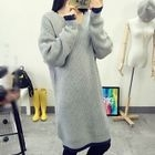 Contrast Trim Ribbed Long Sweater 1596