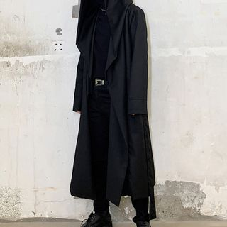Image of Hooded Long Trench Coat