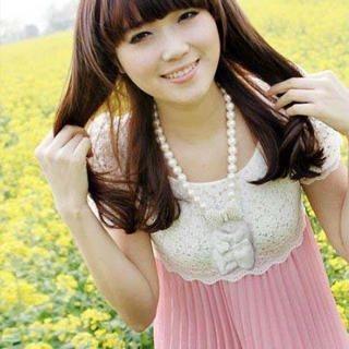 Buy SHY SHY Lace Top Chiffon Dress 1022852934