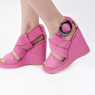 Buy IT GIRL STYLE Cross Strap Wedge Sandals 1022981322
