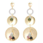 18K White  Yellow Gold Dangling Earrings with Colorstones от YesStyle.com INT