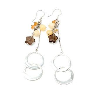 Image For Moon & Star Earrings