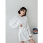 Tie-Waist Mini Pullover Dress 1596