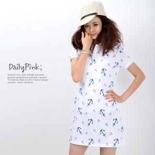 Buy Daily Pink Patterned Short-Sleeve Polo Dress 1022939035