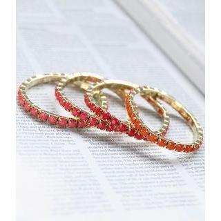 Cases & Bags Set of 4: Beaded Bracelets Pink, Orange - One Size