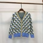 Printed Sweater / V-Neck Cardigan 1596