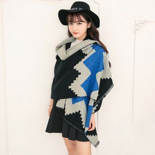 Patterned Knit Scarf 1056189045