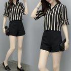 Set: Striped Top + Shorts 1596