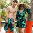 Couple Matching Set: Tankini + Beach Cover-Up / Swim Shorts 1596