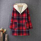 Plaid Fleece-Lined Hood Coat от YesStyle.com INT