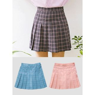 Check Mini Pleated Skirt 1057591540