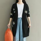 Embroidered Long Cardigan 1596