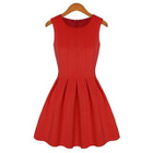Sleeveless Frilled Tie Waist Dress 1596