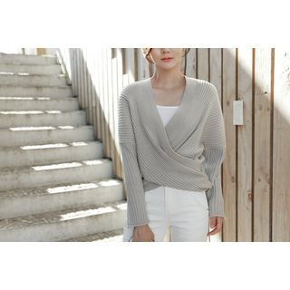 Open-Front Ribbed Cardigan 1053642664