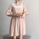 Frilled Elbow-Sleeve Dress 1596