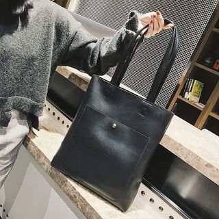 Faux Leather Tote Bag 1062808150