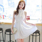 Halter Chiffon Dress 1596